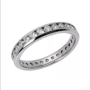 14k Gold 1.00 TCW Round Diamond Eternity Band